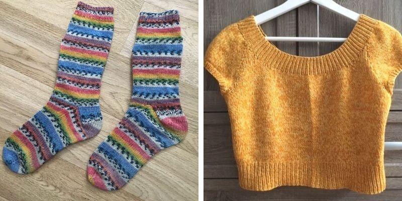 Asha Banjoko - Knitting.