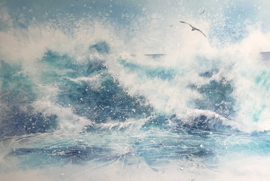 Shoreline by Ruth Kidd Water colour
