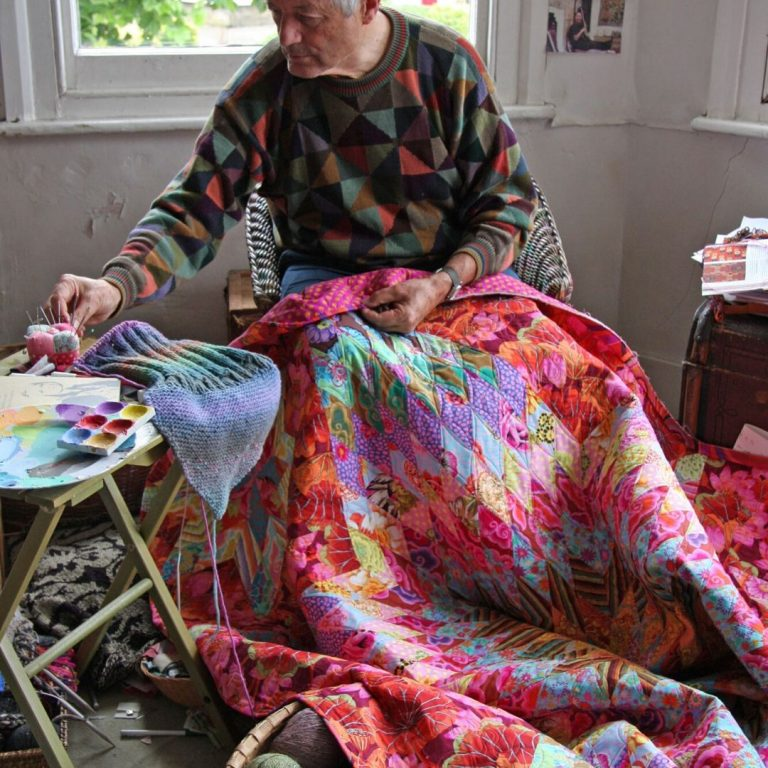 Kaffe Fassett provides motivational words