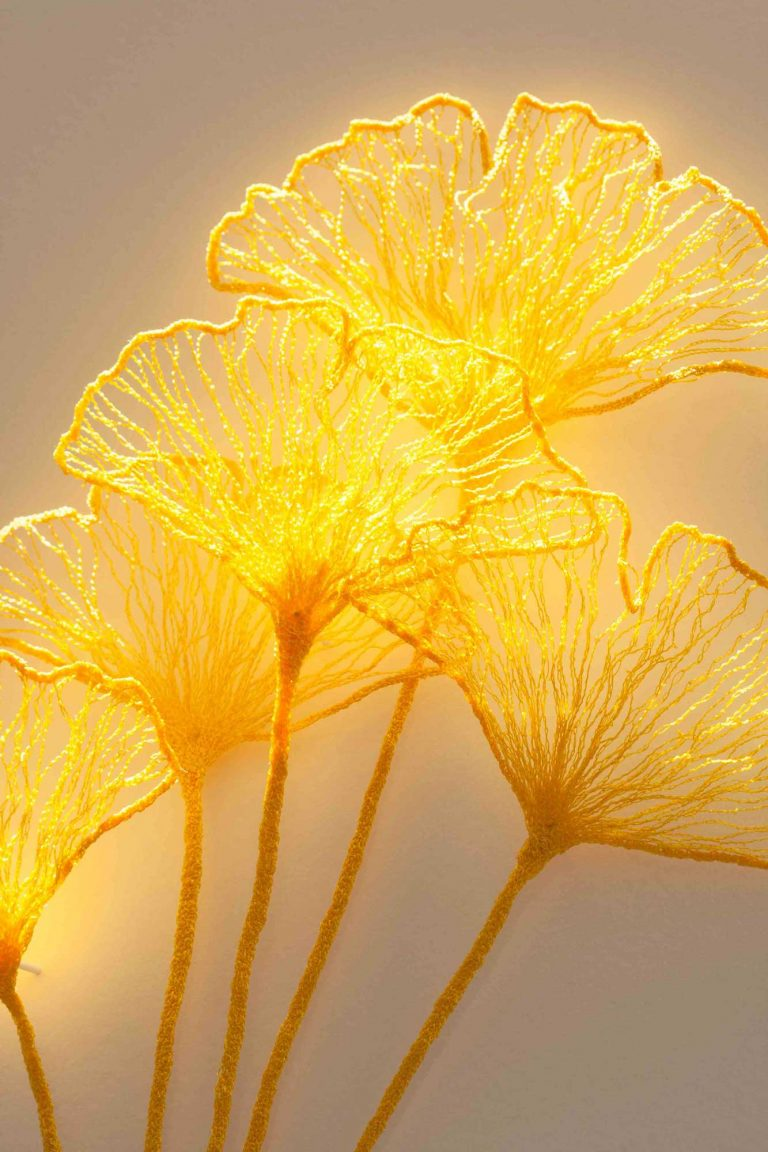 Ginkgo Florette Glow (detail) by Meredith Woolnough