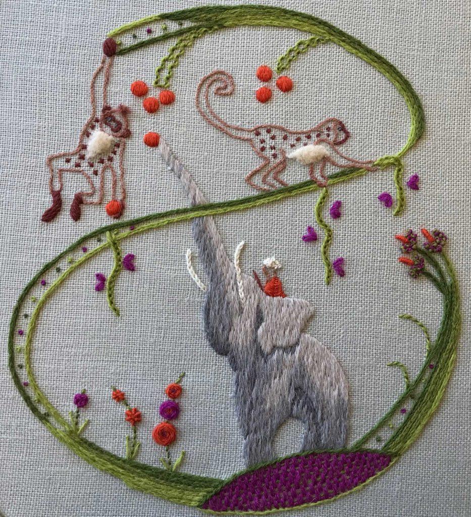 Sara Dennis hand embroidery