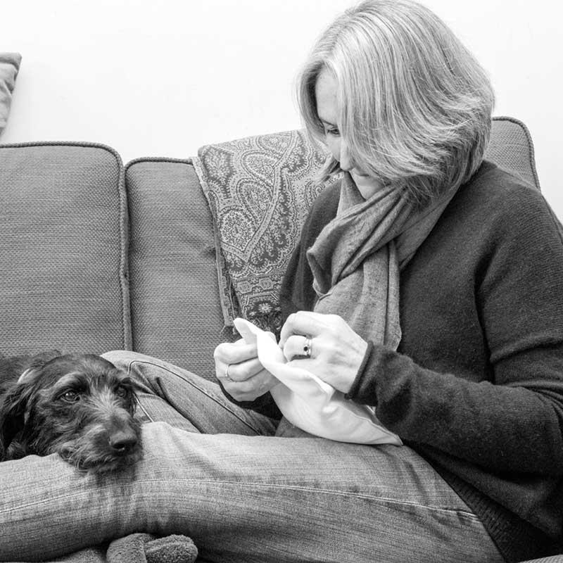 Hand embroidery expert Sarah Dennis