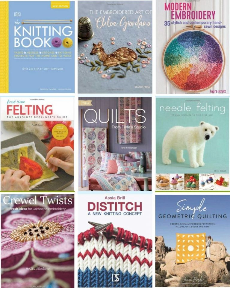 Textiles Craft books released at the end of 2019