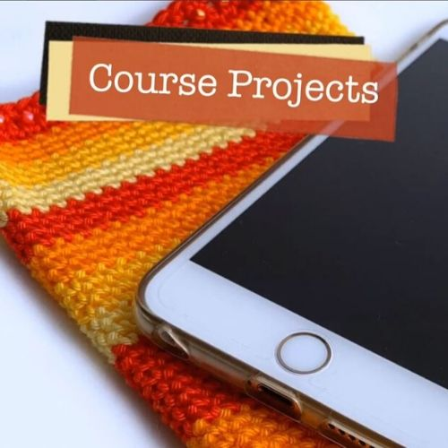 Learn how to crochet this phone course on our beginners course.