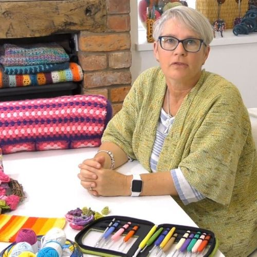 Sally Hart Crochet tutor at the School of Stitched Textiles