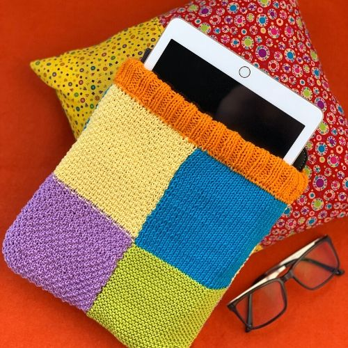 Learn how to knit this ipad case on our beginners course