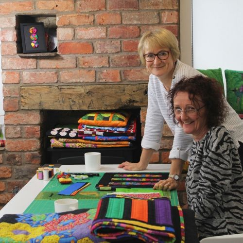 Tutors of our beginner craft courses at the School of Stitched Textiles