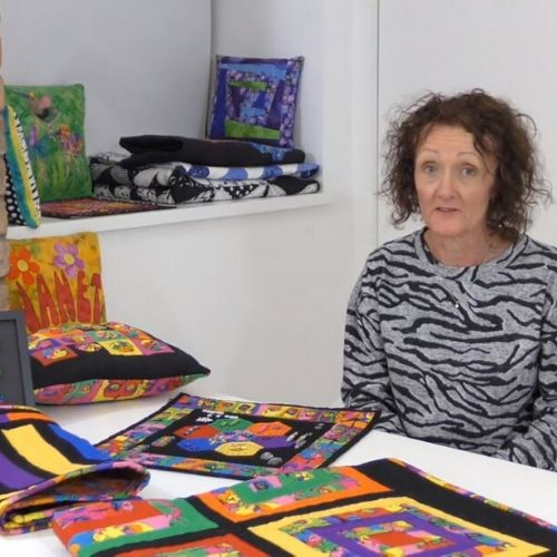 Janet Gledhill delivering the Patchwork and Quilting course