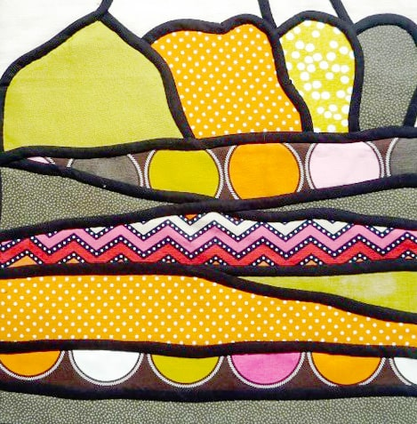 Stained-glass-applique by Judith Mott