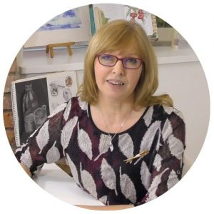 Ruth Clayton is a experience water colour artist and guest tutor for the School of Stitched Textiles