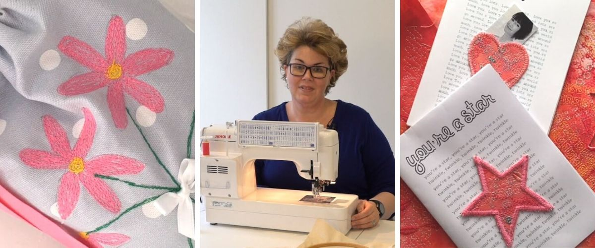 Learn Machine Embroidery. A new online course for beginners