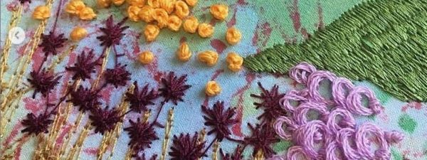 Hand embroidery courses by the School of Stitched Textiles