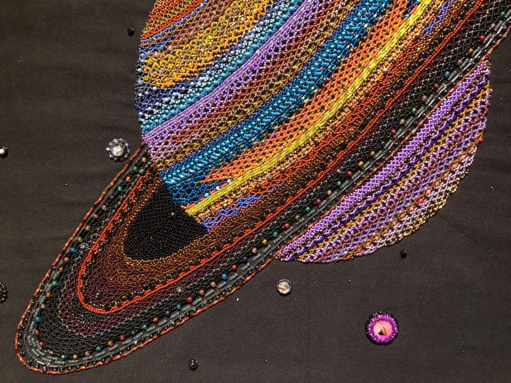 Beaded Saturn by Margaret Nazon