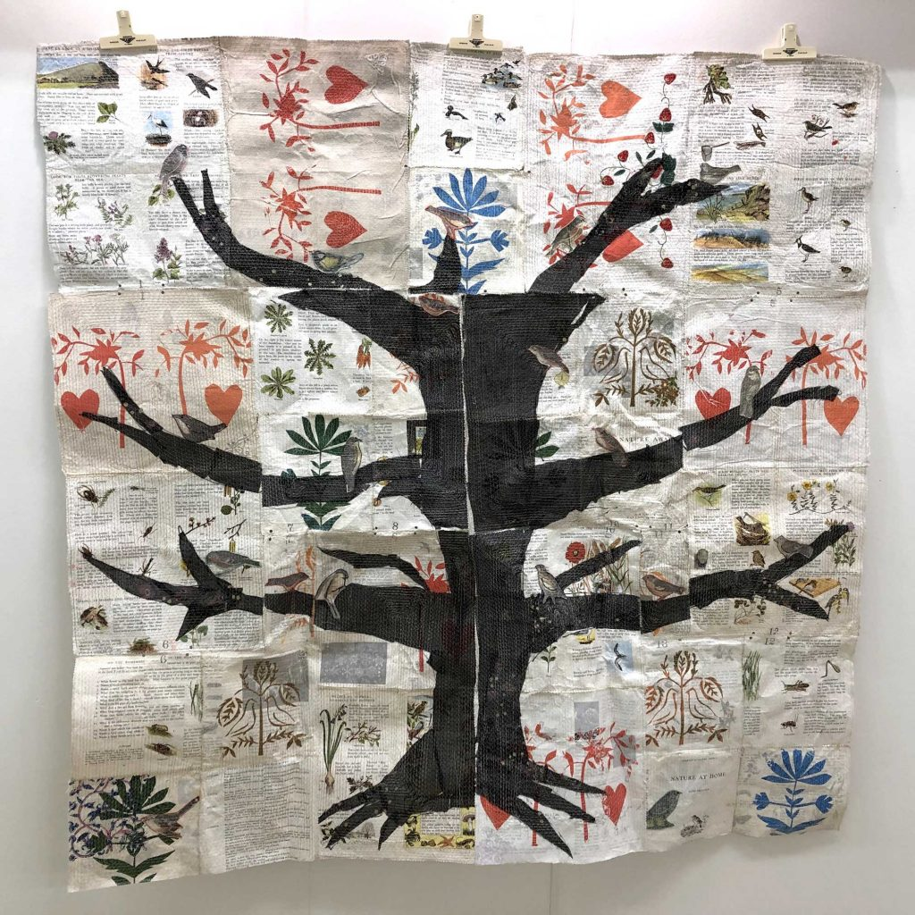 Folk bird tree by Anne Kelly