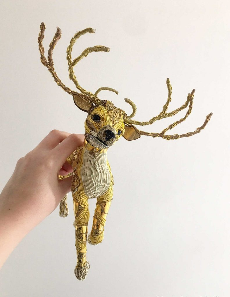 Goldwork Reindeer by G Bellamy