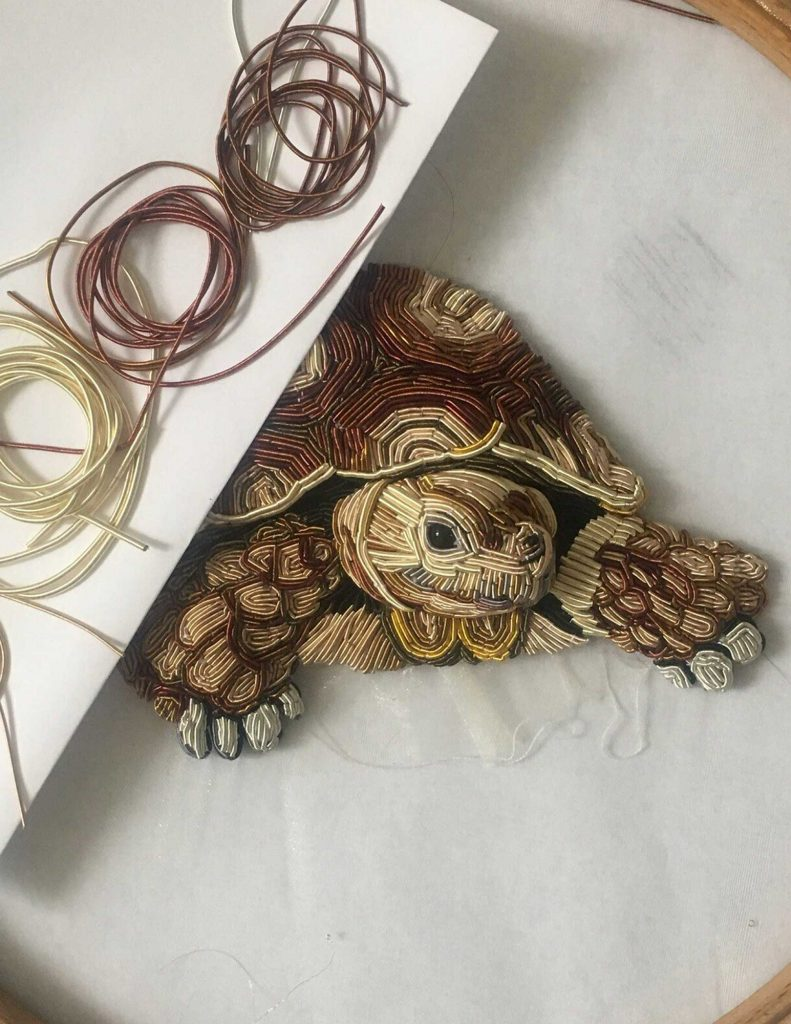 Example of goldwork hand embroidery