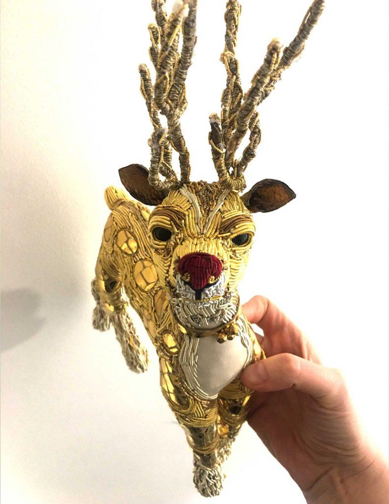 Rudolph embroidery by Georgina Bellamy