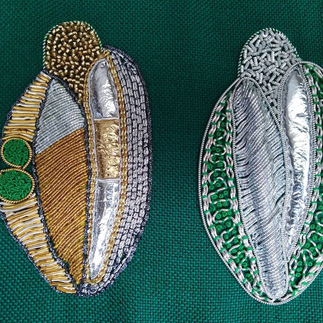 Goldwork sample hand embroidery course by Sally-Ann Duffy