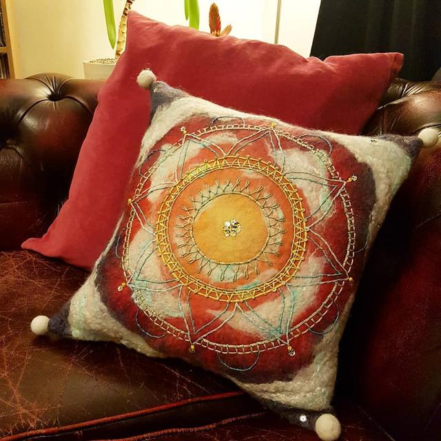 Slow stitchted cushion