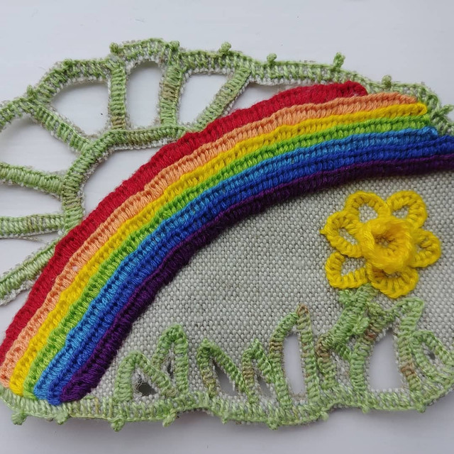 Cutwork Sample by The Embroidery Alchimist