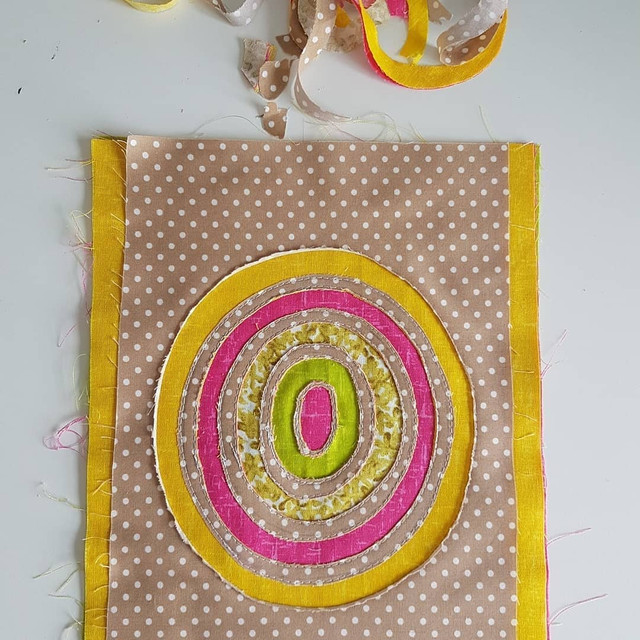 Reverse applique patchwork and quilting