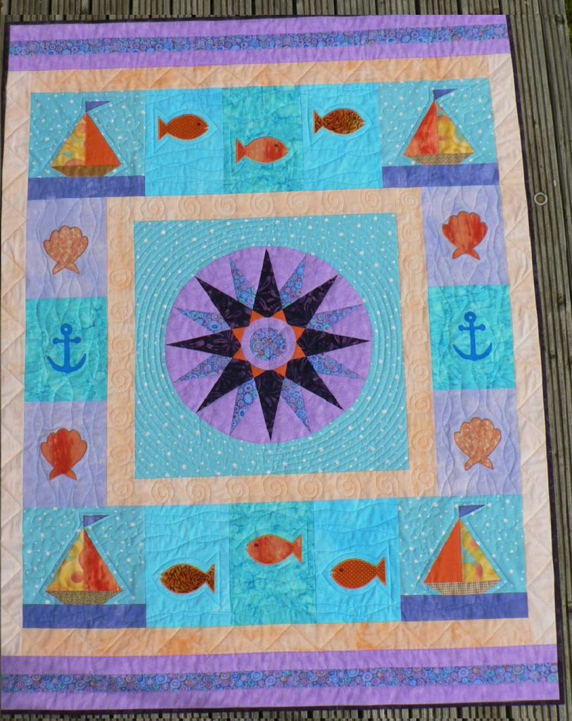 Quilting assessment piece with vibrant colours