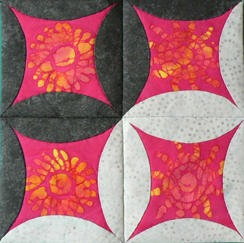 Patchwork quilt sample by Christine Smith