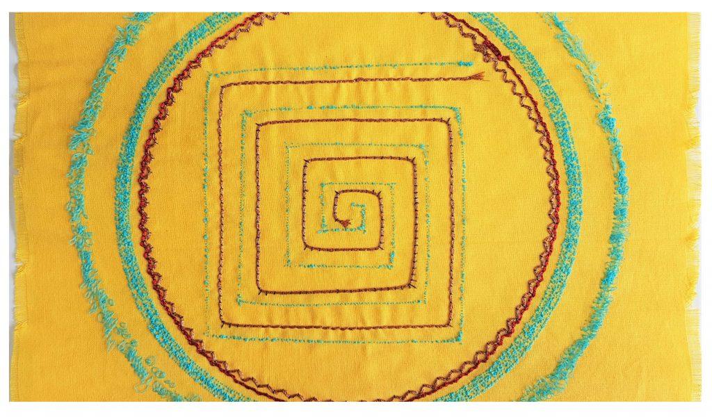 Textiles work by graduate, Jane Freeman