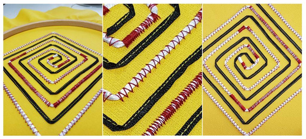 Sample techniques Textile course, by Jane Freeman