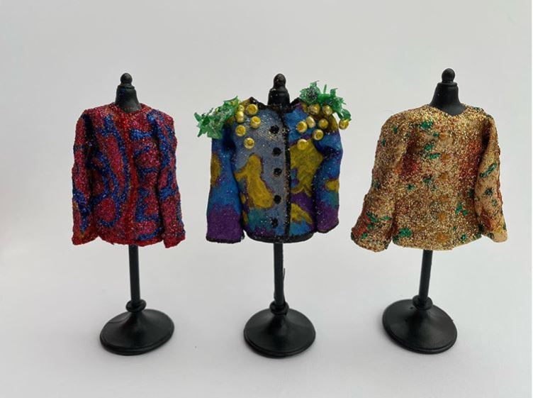 Tiny quilted jackets by Hazel Winfield