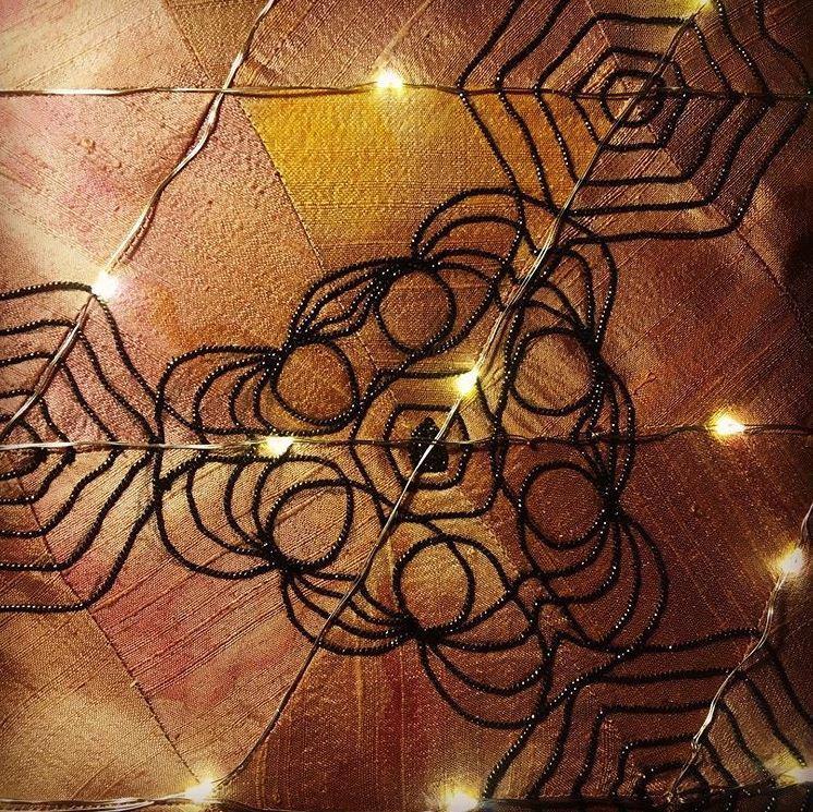 Goldwork sample by Lois Stapleton