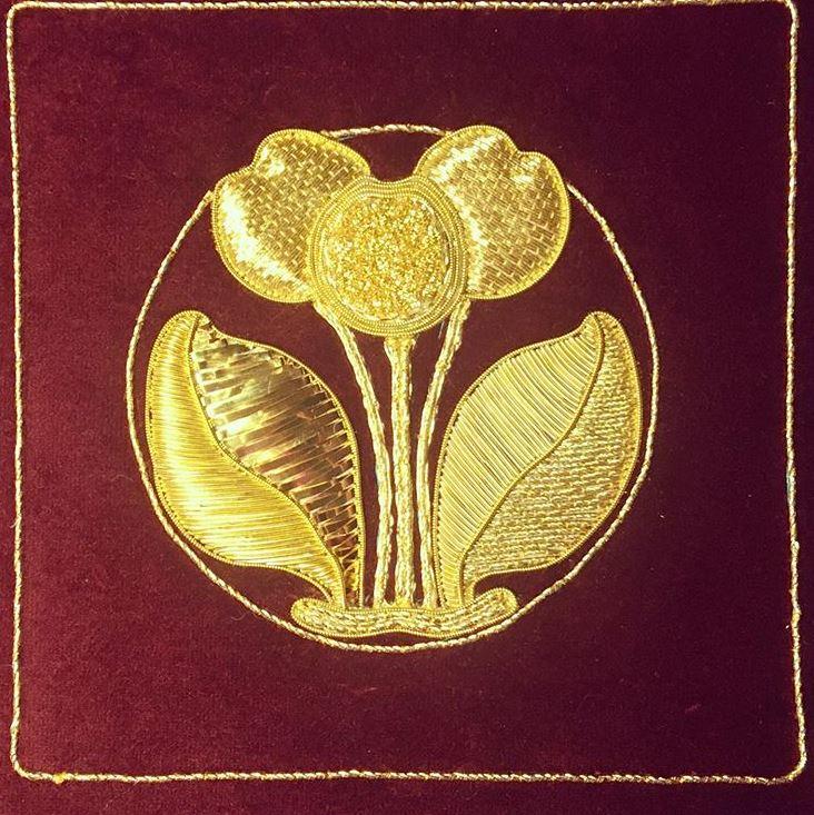 Lois Stapleton goldwork sample