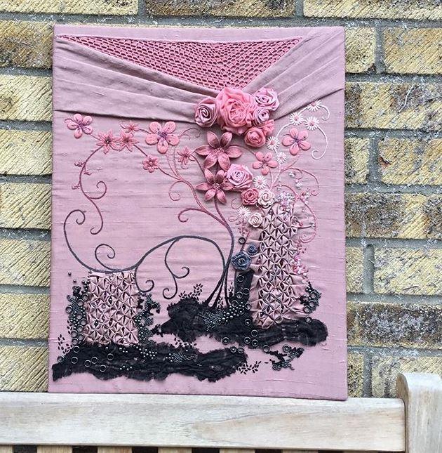 Raised embroidery stumpwork
