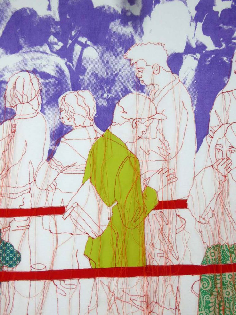 Detail of the Art Queue by Rosie James