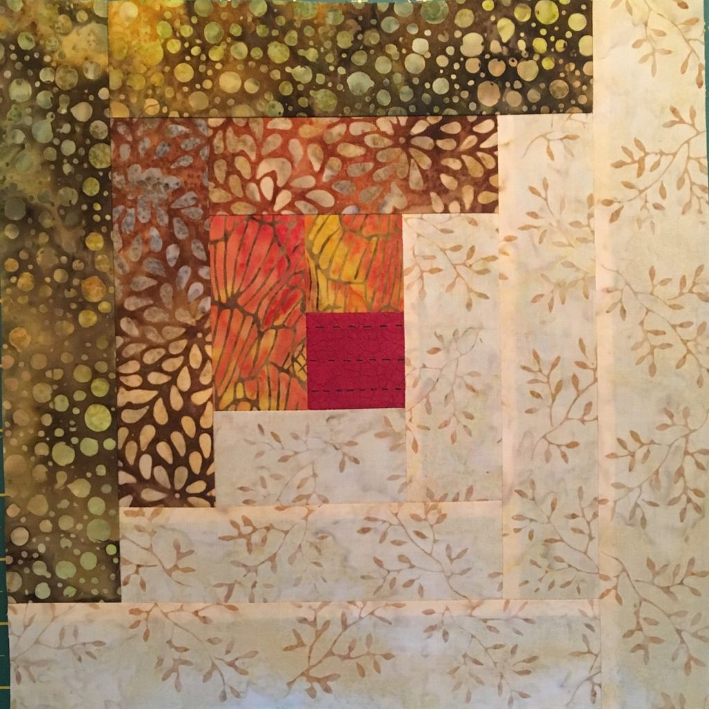 Patchwork and quilting sample by Lou Petch