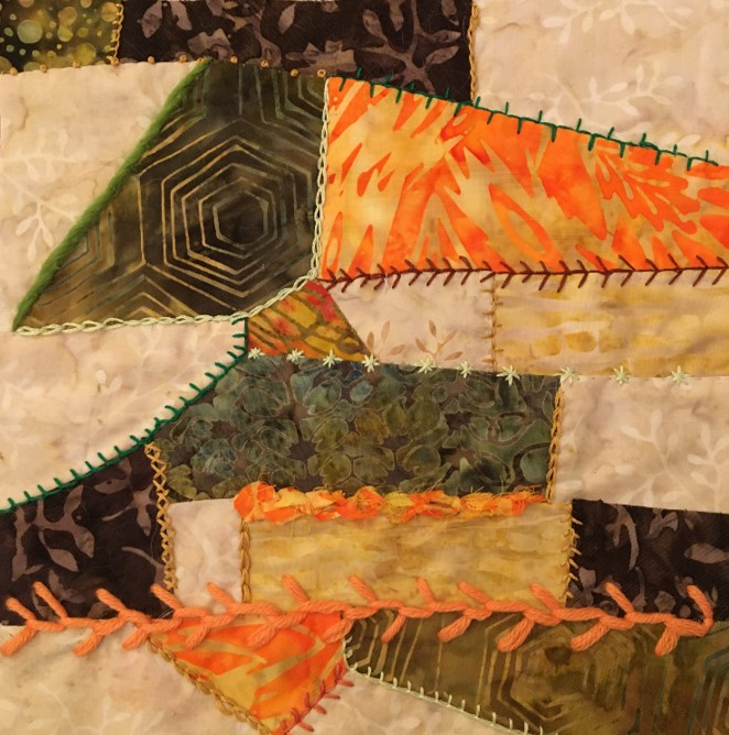 Patchwork piece by Lou Petch