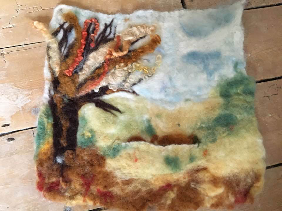 Our bursary winners, needle felting by Dominika Baran