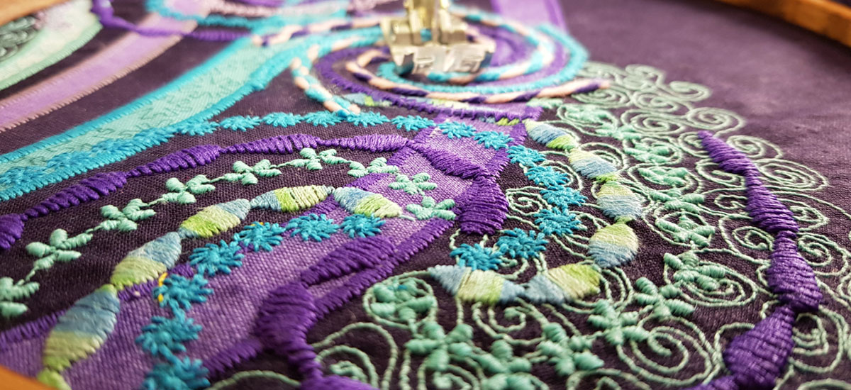Graduate Story: Cathy Howe – Machine Embroidery