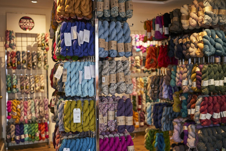 Hand dyed independent brands sit alongside big commercial brands