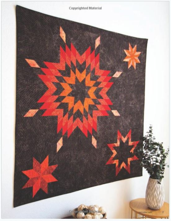 Diamond Star Quilts inside view fo the book