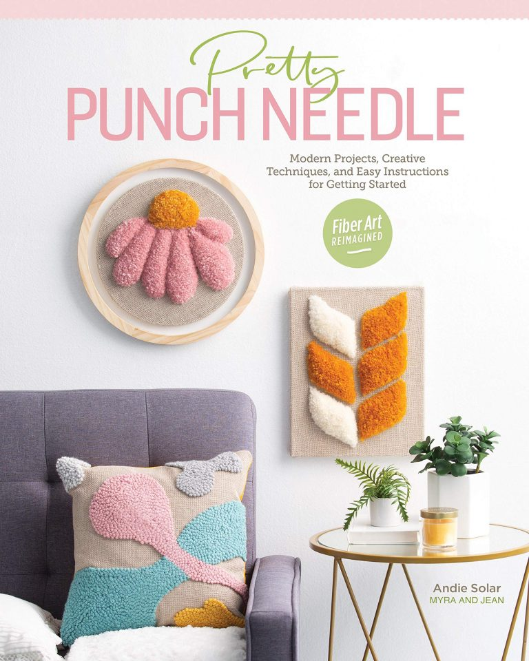 Pretty Punch Needle Front Cover