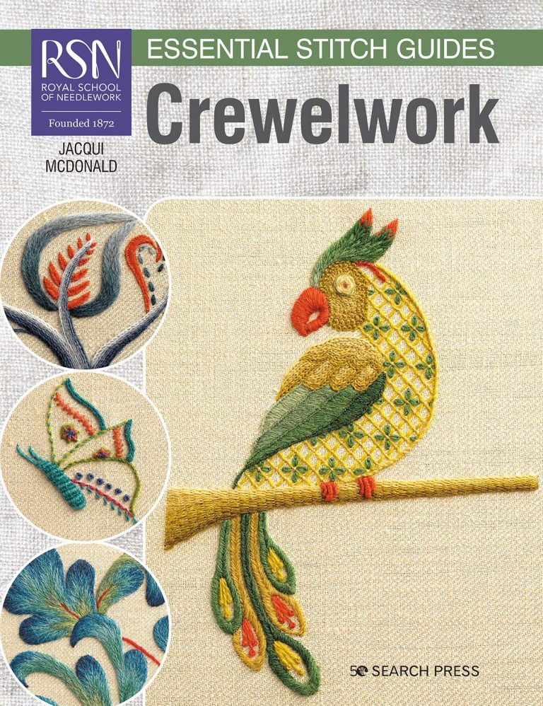 RSN Crewelwork a book recommended by School of Stitched Textiles