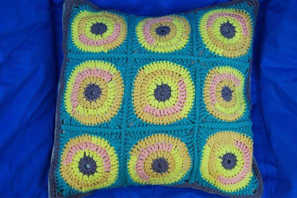 Crocheted Cushion by crochet graduate