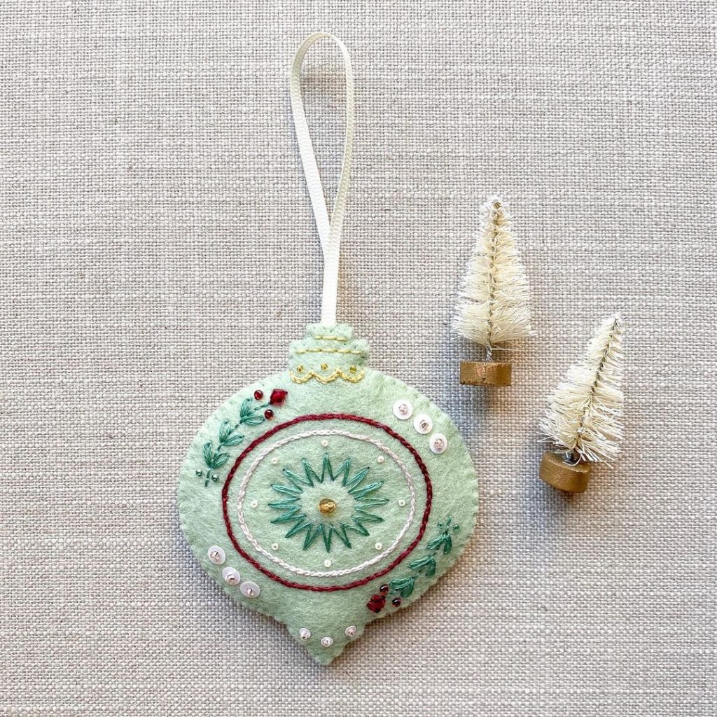 Felted Christmas Ornaments by Ivyona Design Co.