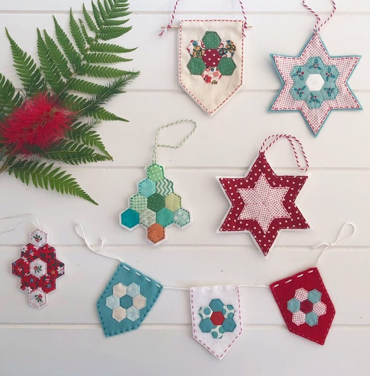 Christmas crafts epp patchwork by the_makers_stash