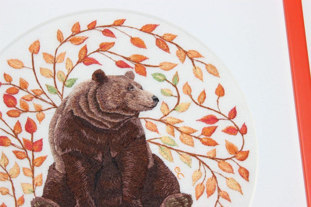 Bear Hand Embroidery by Elysia Cusworth
