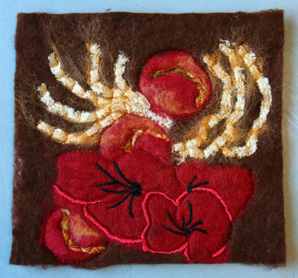 Sample from the felt course by Penny Merrett