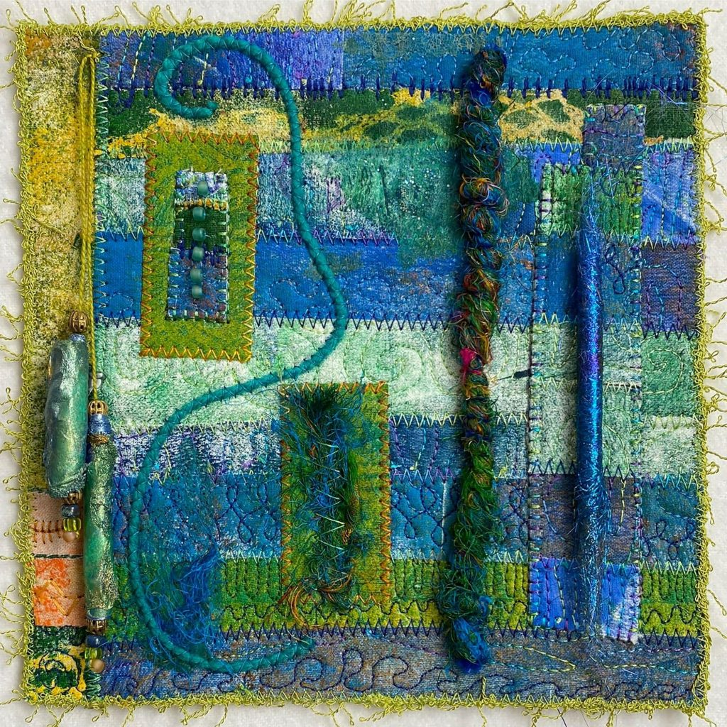 Angelina Bead Patchwork and Quilting project by Annegret Fauser