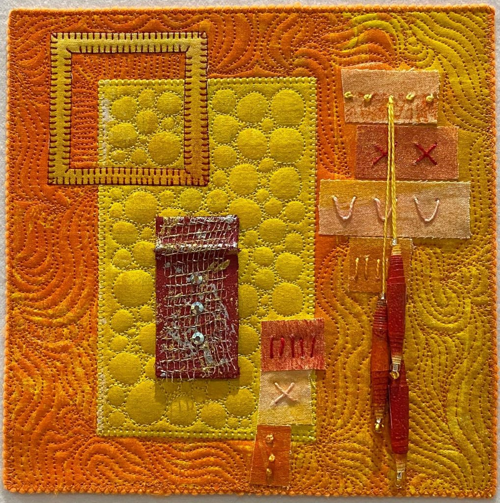 Muslin Bead Patchwork and Quilting project by Annegret Fauser