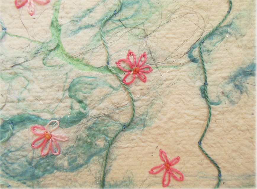 Hand Embroidery work, Claire Harvey
